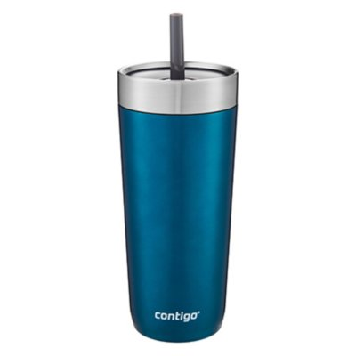 Luxe Stainless Steel Travel Tumbler with Spill-Proof Lid and Straw, 18oz
