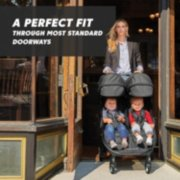 Double stroller is a perfect fit through most standard doorways image number 1