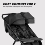 Double stroller is cozy comfort for 2 with adjustable calf supports and reclining seats image number 2