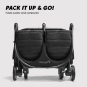 Double stroller is easy to pack it up and go folds quickly and compactly image number 3