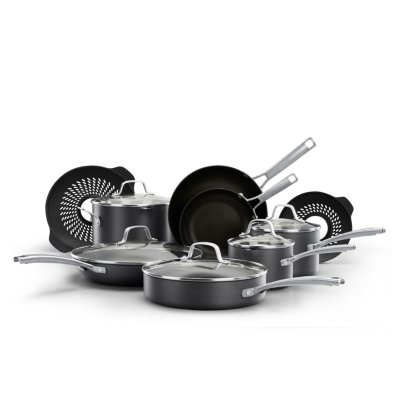 Calphalon Classic™ Hard-Anodized Nonstick 14-Piece Cookware Set with No-Boil-Over Inserts