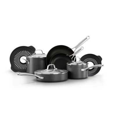 Calphalon Classic™ Hard-Anodized Nonstick 10-Piece Cookware Set with No-Boil-Over Inserts