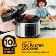 Crockpot™ 10-Qt. Express Crock Multi-Cooker with Easy Release Steam Dial, 10QT, Stainless Steel image number 4