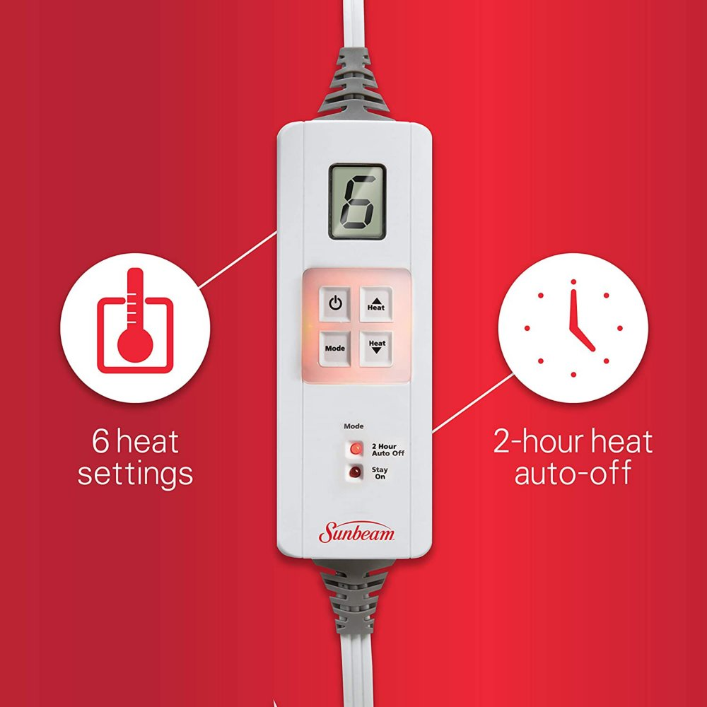 Premium Heating Pad With Xpressheat Sunbeam