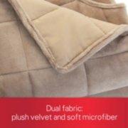 dual fabric, plush velvet and soft microfiber image number 1