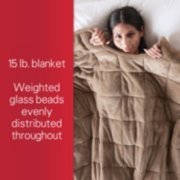 15 pound blanket, weighted glass beads evenly distributed throughout image number 3