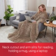 neck cutout and arm slits for reading, holding a mug, using a laptop image number 2