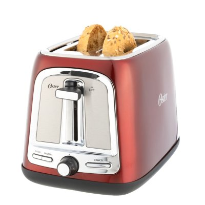 Oster® 2-Slice Toaster with Advanced Toast Technology, Candy Apple Red