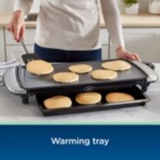 Oster® DiamondForce™ 10-Inch x 20-Inch Nonstick Electric Griddle with Warming Tray image number 4