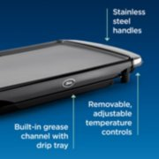 Oster® DiamondForce™ 10-Inch x 20-Inch Nonstick Electric Griddle with Warming Tray image number 5