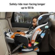 safely ride rear facing longer up to 50 pounds image number 3