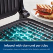 Oster® DiamondForce™ 3-in-1 Nonstick Indoor Grill, Panini Press, and Lay-Flat Grill  image number 2