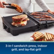Oster® DiamondForce™ 3-in-1 Nonstick Indoor Grill, Panini Press, and Lay-Flat Grill  image number 3