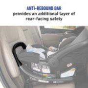 anti rebound bar provides an additional layer of rear facing safety image number 2
