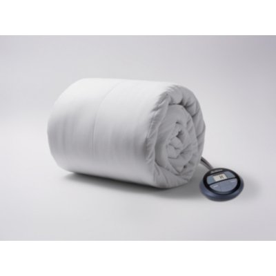 Cotton Polyester Vertical Quilted Heated Mattress Pad with Digital Display Controller