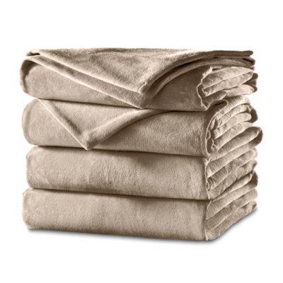 Sunbeam® Velvet Heated Blanket with Dial Controller