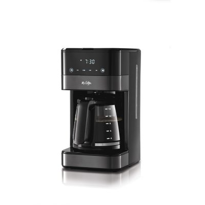 Mr. Coffee® 12-Cup Programmable Coffee Maker with LED Touch Display, Black Stainless Steel