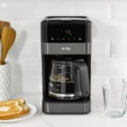 Mr. Coffee® 12-Cup Programmable Coffee Maker with LED Touch Display, Black Stainless Steel image number 4