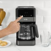 Mr. Coffee® 12-Cup Programmable Coffee Maker with LED Touch Display, Black Stainless Steel image number 5