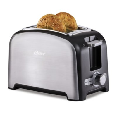 Oster® 2-Slice Toaster with Extra-Wide Slots and 3 Functions, Stainless Steel