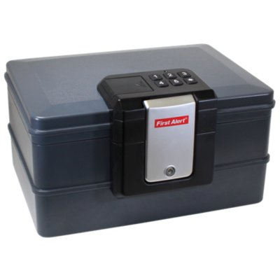 Waterproof Fire Chest with Digital Lock, 0.39 Cubic Feet