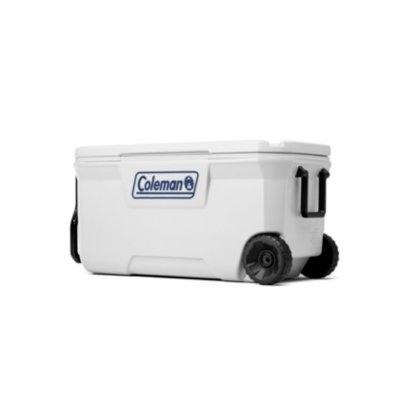 100 Qt,Wheeled Cooler, 6-day Ice Retention, Tow & 2-Way Handle, Marine