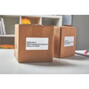 packages labeled with shipping addresses image number 3