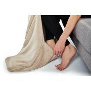 Sunbeam® Microplush Foot Pocket Heated Throw image number 1