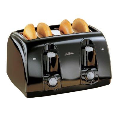 Sunbeam® 4-Slice Wide-Slot Toaster, Black