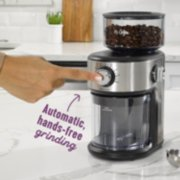Mr. Coffee® Cafe Grind 18 Cup Automatic Burr Grinder, Stainless Steel image number 2