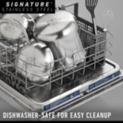 stainless steel pots and pans in dishwasher image number 4