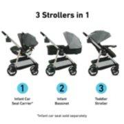Modes Pramette stroller in 3 configurations image number 1