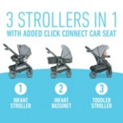 Modes 3 strollers in 1 with click connect car seat image number 1
