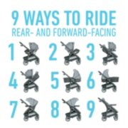 Stroller with 9 ways to ride rear and forward facing image number 3