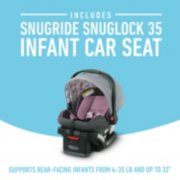 Infant car seat supports rear facing infants from 4 to 35 pounds image number 2
