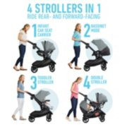 Modes 4 in stroller with infant car seat, bassinet mode, toddler stroller and double stroller image number 1
