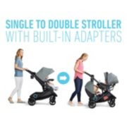 Modes single to double stroller with built in adapters image number 3