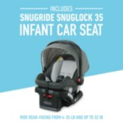 Snug ride snug lock 35 infant car seat ride rear facing from 4-35 pounds image number 2