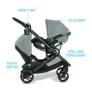 Modes stroller parent tray, uv 50 canopy, built in adapters and storage basket image number 4