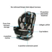 convertible car seat features image number 6