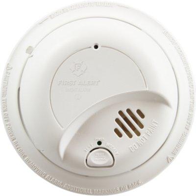 Hardwired Ionization Smoke Alarm with Battery Backup