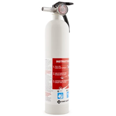 Rechargeable Garage Fire Extinguisher UL Rated 10-B:C (White)