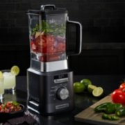 Calphalon Auto-Speed 2-Liter Blender with Blend-N-Go Smoothie Cup, Dark Stainless Steel image number 4