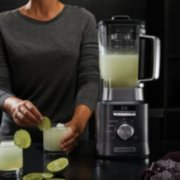 Calphalon Auto-Speed 2-Liter Blender with Blend-N-Go Smoothie Cup, Dark Stainless Steel image number 5