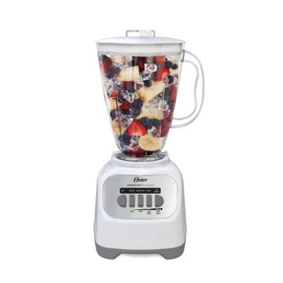 Oster® Easy-to-Use Blender with 5-Speeds and 6-Cup BPA-Free Jar, White
