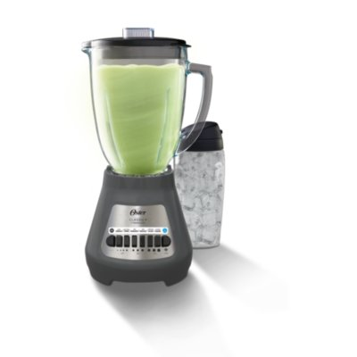 Oster® Party Blender with XL 8-Cup Jar and Blend-N-Go™ Cup, Grey