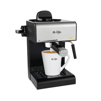Mr. Coffee® Café 20-Ounce Steam Automatic Espresso and Cappuccino Machine, Black