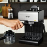Mr. Coffee® Café 20-Ounce Steam Automatic Espresso and Cappuccino Machine, Black image number 1