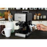 Mr. Coffee®  Café 20-Ounce Steam Automatic Espresso and Cappuccino Machine, Silver image number 2