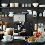 Mr. Coffee®  Café 20-Ounce Steam Automatic Espresso and Cappuccino Machine, Silver image number 1